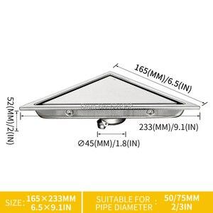 Image 5 - 三角形に見えない床ドレンバルコニー浴室コーナー床ドレン消臭非表示の型タイル挿入シャワー排水高速排水