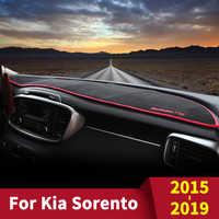 Für KIA Sorento Prime 2015 2016 2017 2018 2019 UM Auto Dashboard Abdeckung Pad Sonnenschirm Dashmat Schützen Anti-Slip teppiche Zubehör