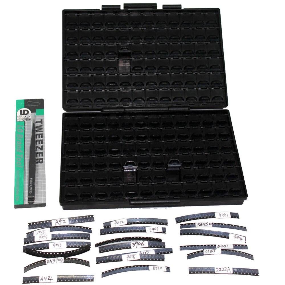 Werkzeug Organisatoren 20 Typ Sot-23 Smd Transistor Kits S8050 S8550 S9014 Mmbt5401 400 Stücke In Kunststoff Teil Box Boxall Ickits-1 Schnelle Farbe