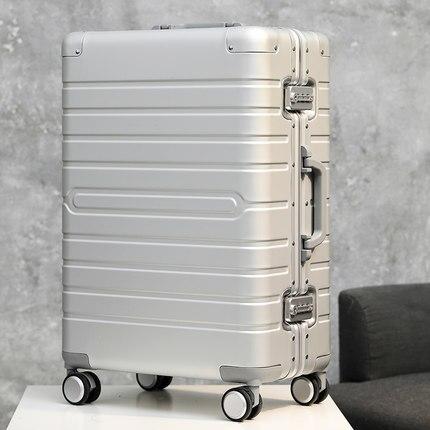 100 Aluminium Reise Koffer Tas Schloss Spinner Business Rolling Gepäck Trolley Fall Auf Rad Geschickte Herstellung