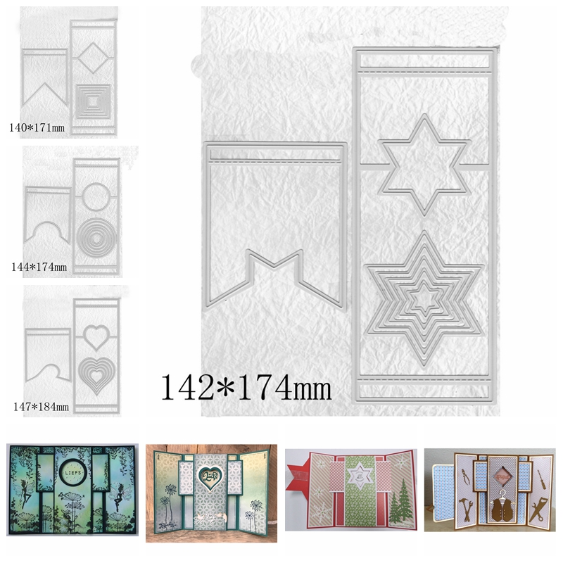 Pull Pop Up Insert Fold Frame Metal Cutting Dies Stencils For DIY Scrapbooking Decoration Embossing Card Craft Die Cut New 2019 in Cutting Dies from Home Garden