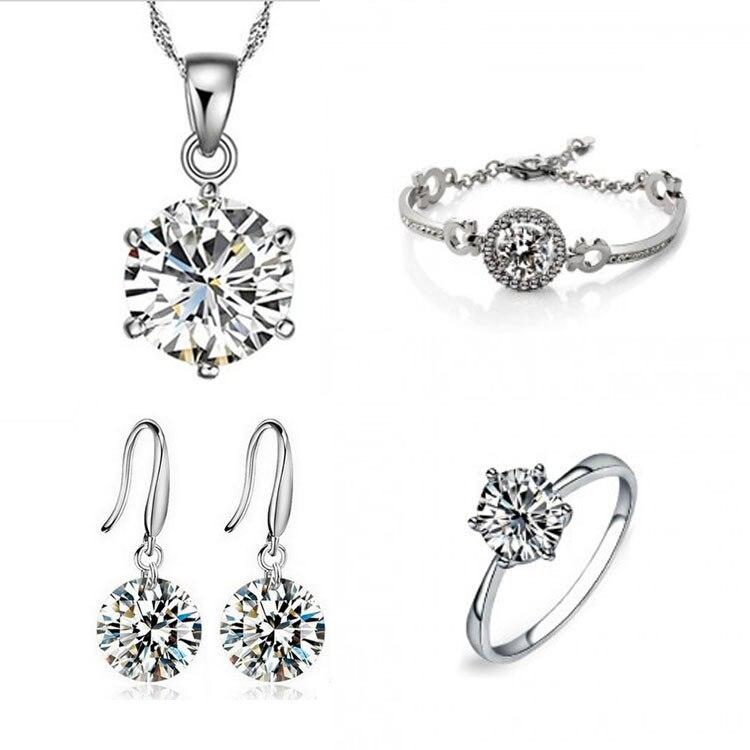 Elegant Fashion Jewelry Sets Silver