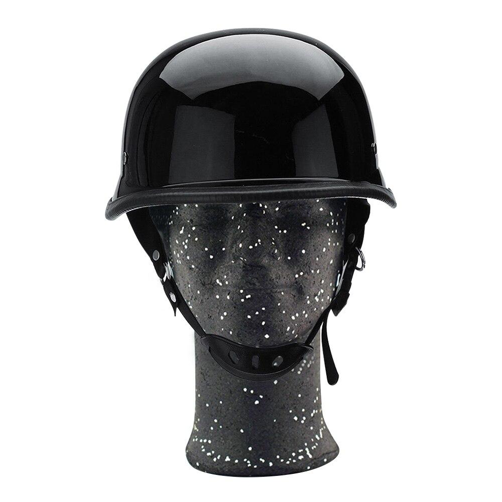New Motorcycle Motorbike Open Face Scooter Classic German Helmet Matt Black