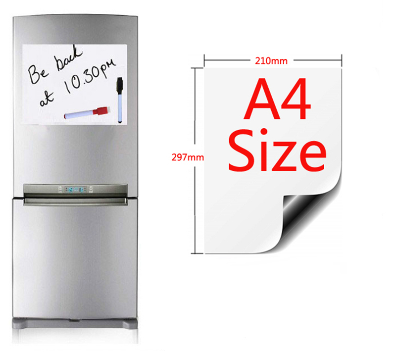 A4 Size 210mmx297mm Magnetic Whiteboard Fridge Magnets Presentation Boards Home Kitchen Message Boards Writing Sticker Pakistan