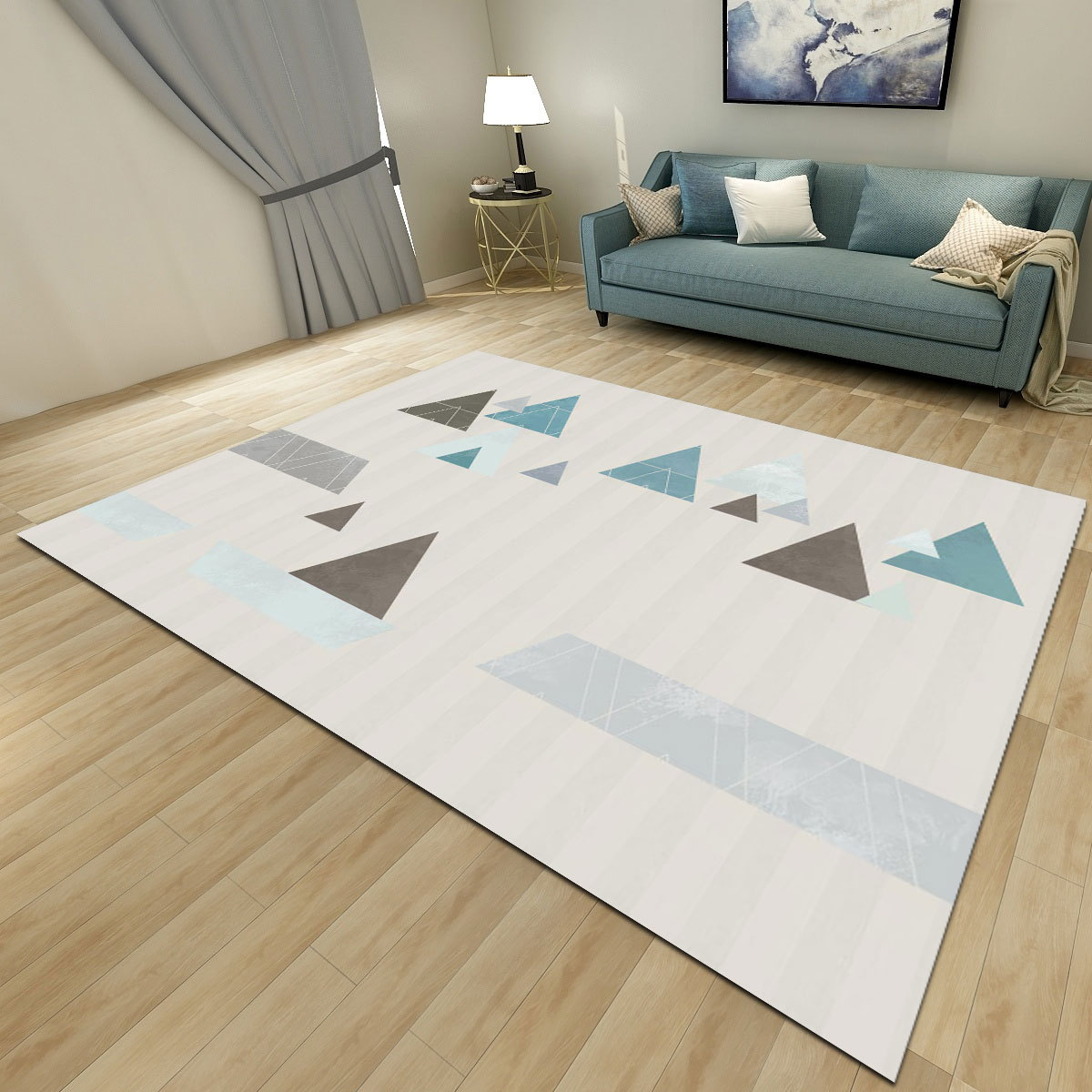Simplicity Nordic Style Printed Carpets for Living Room Decor Rug High Quality Modern Home Area Rugs Geometric Pattern Carpet in Carpet from Home Garden