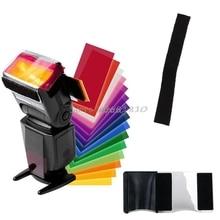 SIV 12 цветов гелевый фильтр Рассеиватель Вспышки софтбокс студийный светофильтр для камеры и Прямая поставка