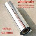 50 cm X 2 m Película Reflectora de Luz Pegatinas Wallpaper Espejo Impermeable Auto-Adhesivo uv película reflexiva/opaca luz película