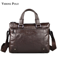 New Men Brand POLO Large Genuine Leather Bags Mens Handbag High Quality Casual Business Man Bag