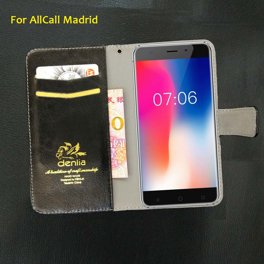 TOP New! AllCall Madrid Case 5 Colors Flip Luxury Leather Case Exclusive Phone Cover Credit Card Holder Wallet+Tracking