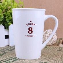 glänzend 8 unzen tasse keramik tasse wasser tasse kaffee becher tasse 300ml