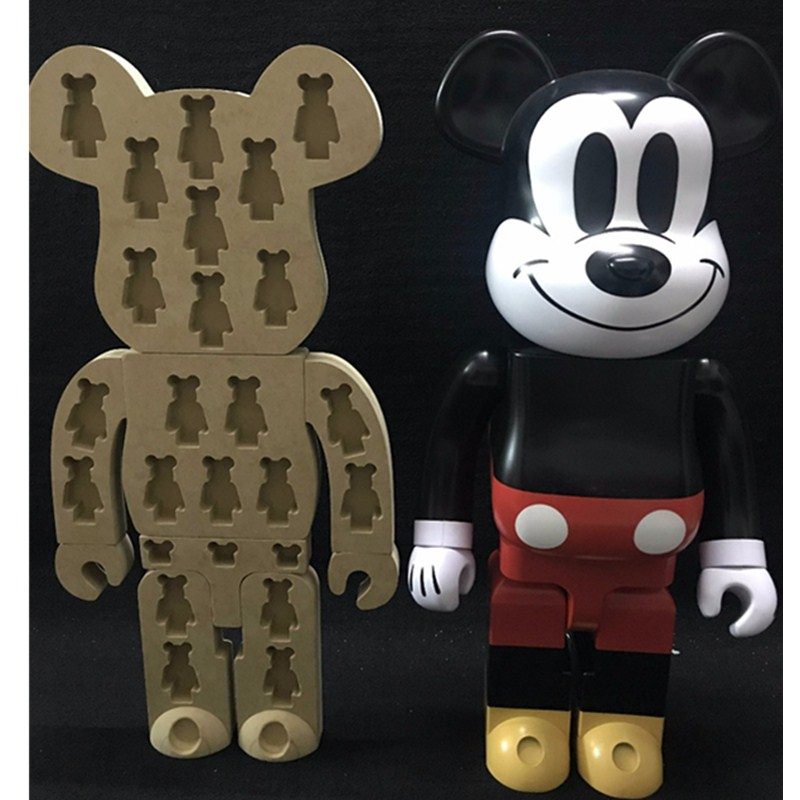 1000% Original Fake Bearbrick Baseman Toby Be@rBrick Kaws Display Box Put In 20pcs 100% Gloomy Bear Display Board Brian L1779 high quality oversize 52cm bearbrick be rbrick matt diy pvc action figure toys bearbrick blocks vinyl doll 3 color optional