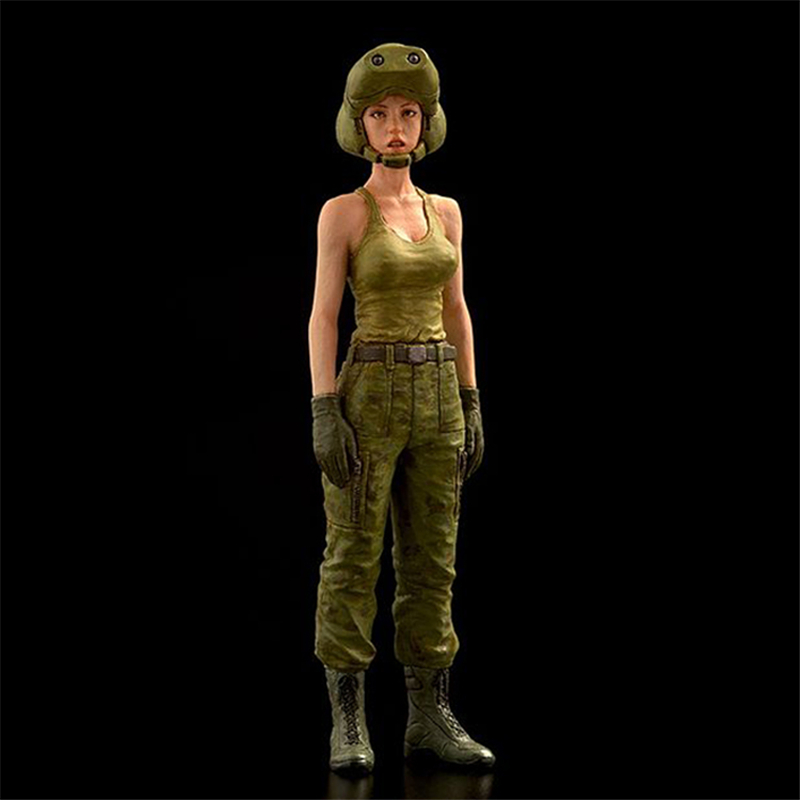 Resin Figures 1:35 Female Driver Model Kit XD202D