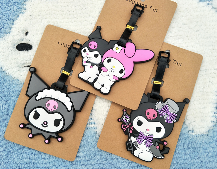 my melody evil couple Luggage Tag Popeye PVC Pendants Portable Travel Label Fujiya Co milk girl Suitcase ID Address Holder tags