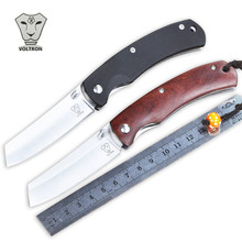 NEW Pocket knife 9Cr18Mov blade G10 or wood handle key chain folding knife utility survival knife outdoor camping EDC tool