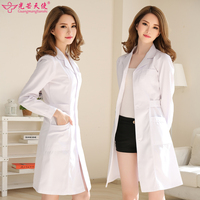 White Coat Long Sleeve Doctor Clothing Washable And Anti Wrinkle White Doctor Unform