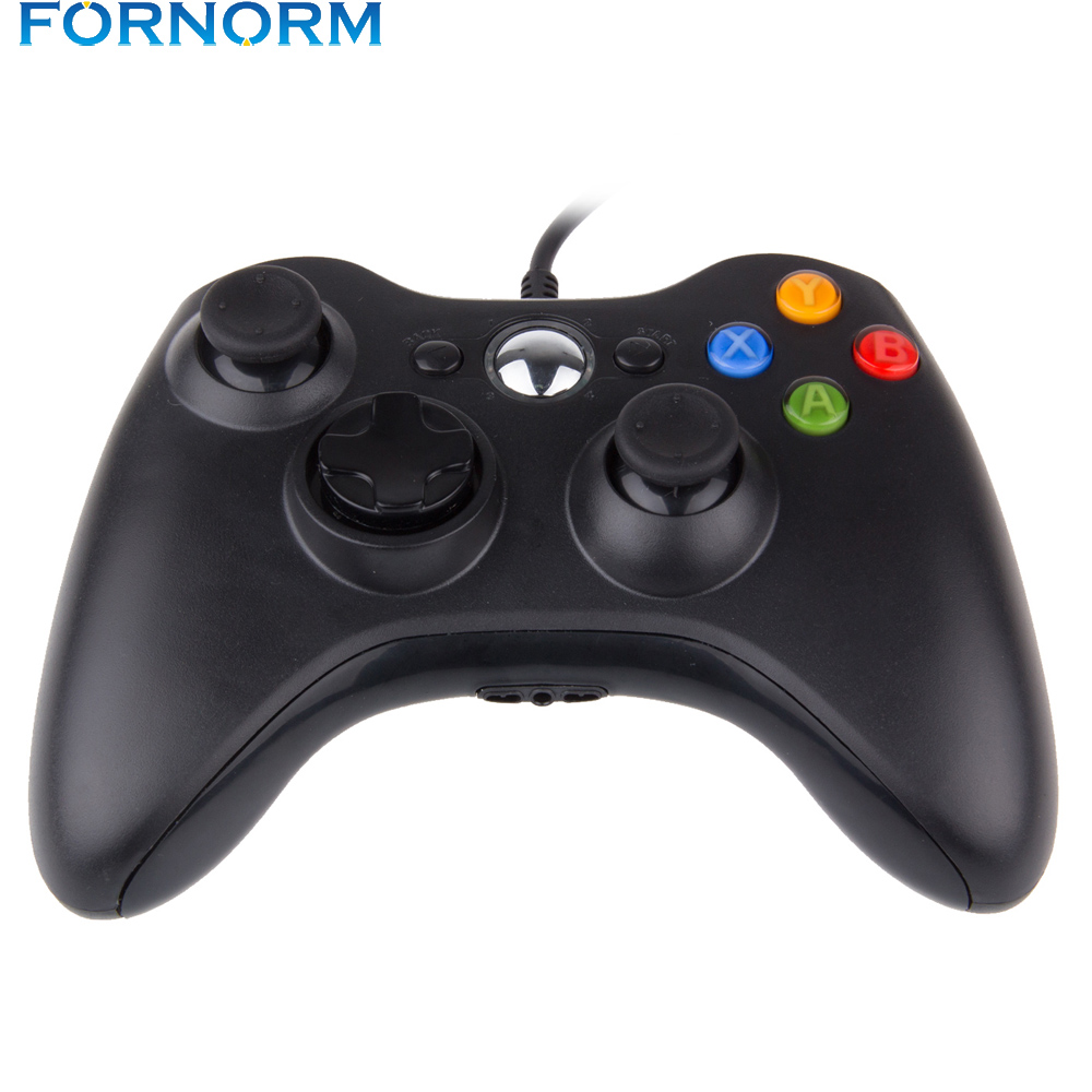 FORNORM USB Wired Gamepad Controller for Microsoft WII PS3 Slim PC ...