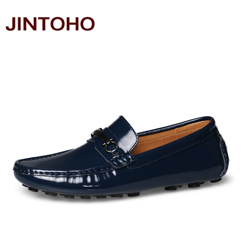 JINTOHO Genuine Leather Slip On Glitter Men Loafers Fashion Driving Shoes Casual Men Flats Shoes Male Moccasins 2016 Loafers men shoes casual 2016 fashion handmade men shoes leather men loafers moccasins slip on men s flats male shoes