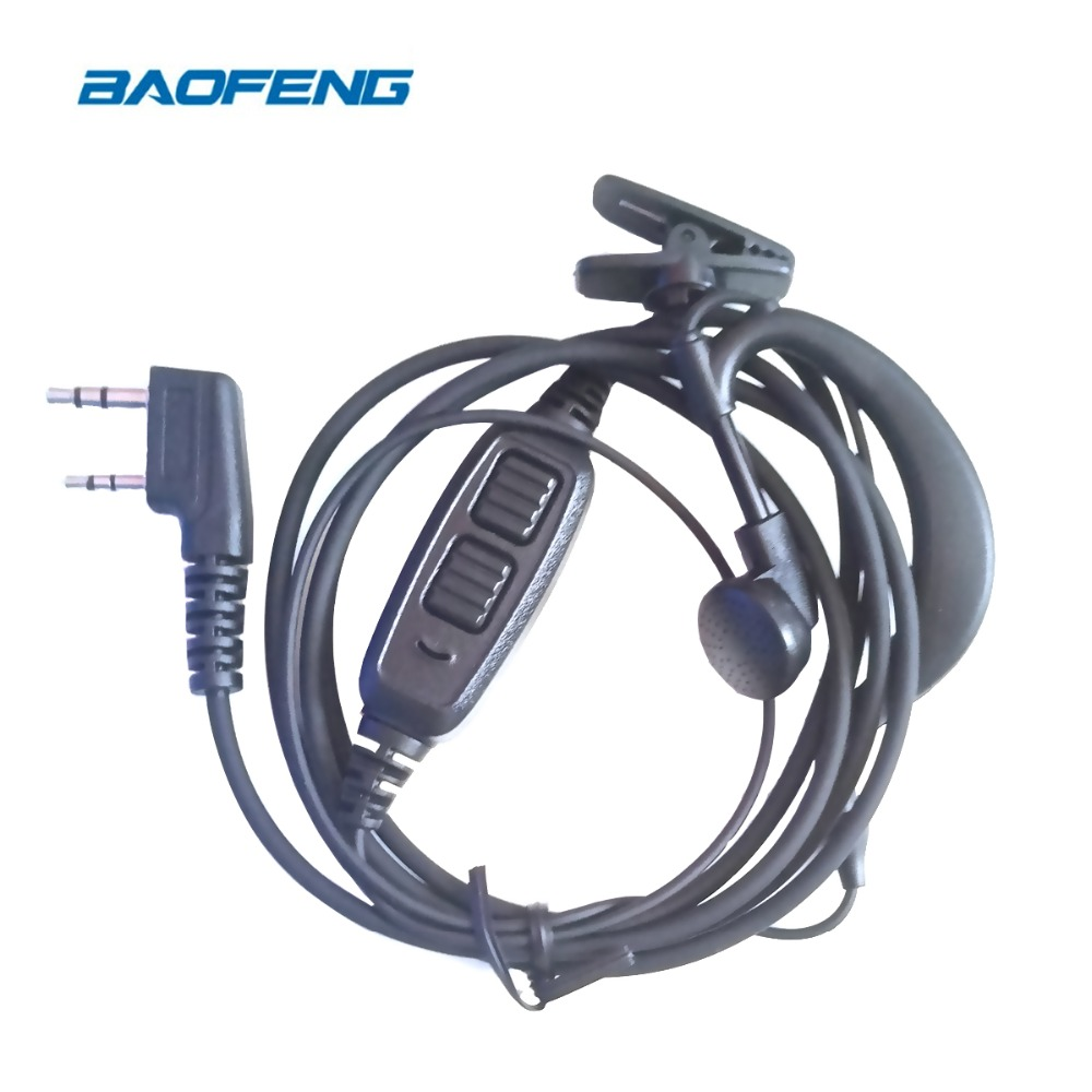 Baofeng UV-82 Original Earphone Dual PTT Walkie Talkie Earbuds For UV 82 Radio Station With Microphone Earpiece For UV82 Radios