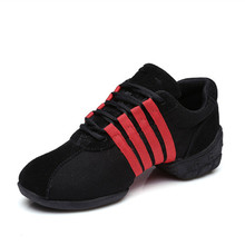 Black+Red Mesh Dance Sneakers Woman Jazz Shoes Zapatilla De Deporte Free Shipping