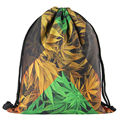 2016 new drawstring printing backpack women fashion shoulder bag casual schoolbags mochila School girl Backpacks Hemp plant
