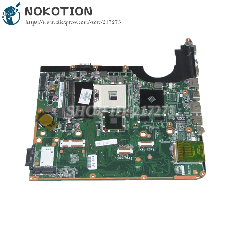 NOKOTION 580976-001 DA0UP6MB6F0 For Hp pavilion DV6 DV6-2100 Laptop Motherboard PM55 DDR3 GT210M Discrete graphics free shipping da0up6mb6f0 605698 001 for hp pavilion dv7 3000 laptop motherboard pm55 ddr3 suppy core i7 only geforce gt320m