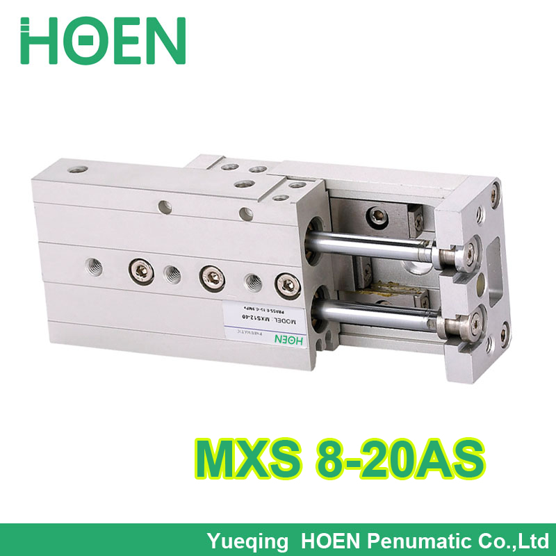 MXS8-20 MXS series Cylinder MXS8-20AS Air Slide Table Double Acting 8mm bore 20mm stroke Accept custom MXS8*20 hls mxs8 30 smc type mxs series cylinder mxs8 30a 30as 30at 30b air slide table double acting 8mm bore 30mm stroke