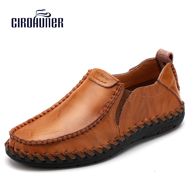 CIROHUNER 2017 Casual Men Genuine Leather Shoes Men's Shoes Black Bussiness Made of Genuine Leather Loafers Men's Flats Shoes cbjsho brand men shoes 2017 new genuine leather moccasins comfortable men loafers luxury men s flats men casual shoes
