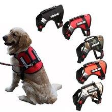Reflective Dog Harness Vest Anti Flushing Walking Vest Leash For Middle Dog Big Dog Service Safety Harnesses Dog Supplies PP064