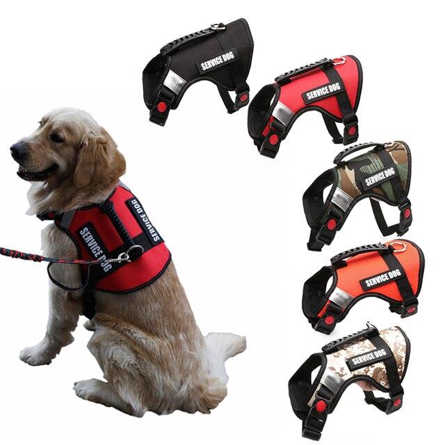 Reflektierende Hund Harness Weste Anti Spülung Walking Weste Leine Für Middle Hund Großen Hund Service Sicherheit Geschirre Hund Liefert PP064