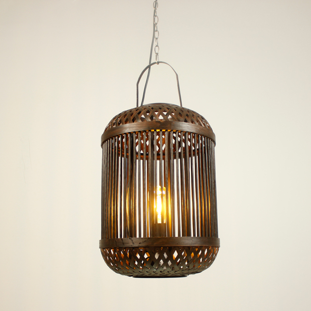Southeast Asia style hot pot shop pendant l& retro personality Chinese restaurant lights birdcage lights bar & Southeast Asia style hot pot shop pendant lamp retro personality ...