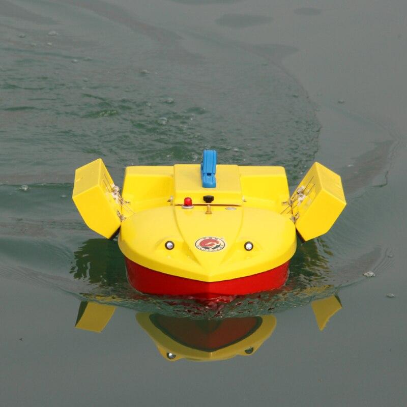 RC Remote Control Fishing Bait Boat HYZ-60 500 M 2.5 KG Carico Twin-Secchio Roll RC Immersione barca Con Luce Notturna Aggiungere Pesce rivelatore