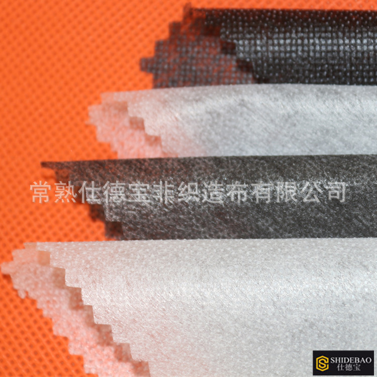 3.0M*1.0M 8020 Single Side Adhesive Double Point Fusible Hot Melt Omentum PES + PA Non-Woven Fabric Garment Interlining