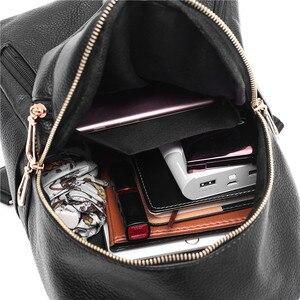Image 5 - 2019 Kadın Deri kızlar için sırt çantaları Kese Dos Mochilas Seyahat Rahat Daypacks okul sırt çantası Kadın Vintage Sırt Çantası Bayanlar