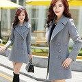 Casaco feminino casaco de inverno mulheres sobretudo poncho feminino inverno 2016 manteau abrigos mujer femme feminino Misturas De Lã casaco