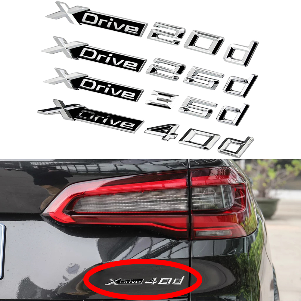 5pcs 3D Car Logo Decal Sticker Sport Wheel Dashboard Emblem For BMW M Series