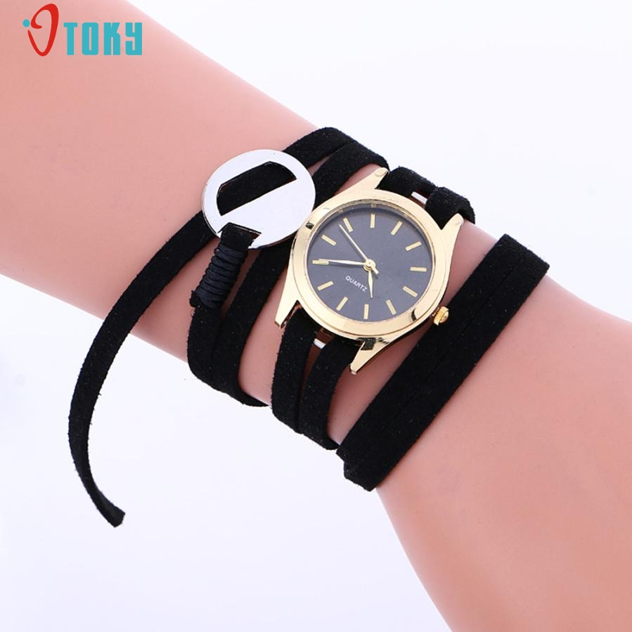 Relogio Feminino Fashion PU Leather Bracelet Watches Weaving Lady Women Wrist Watch Creative Mar23