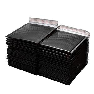 Image 1 - 50 sztuk/partia 150x180mm złoty z papieru, wyściełane koperty koperty prezent torba Bubble koperta pocztowa torby do pakowania torby przewozowe