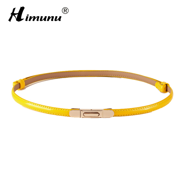 Retail Rectangular Splice Buckle Surface paint cowhide Leather bottom Thin Female Belts for Women Ms. clothing Fashion Girdles