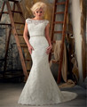Vestido de noiva 2016 New Hot Sexy   Lace mermaid Wedding Dresses backless bride gowns custom made for pregnant women plus size