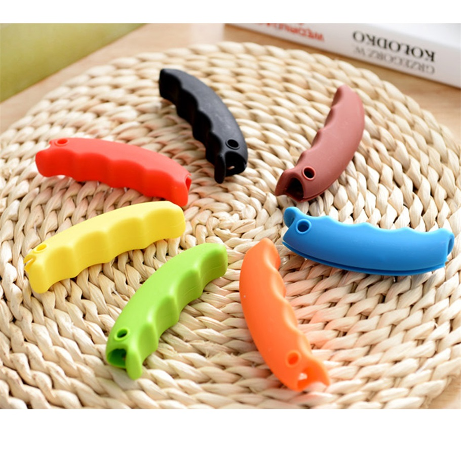 1Pcs Silicone Grocery Shopping Bag Basket Carrier Holder Handle Grip Comfortable