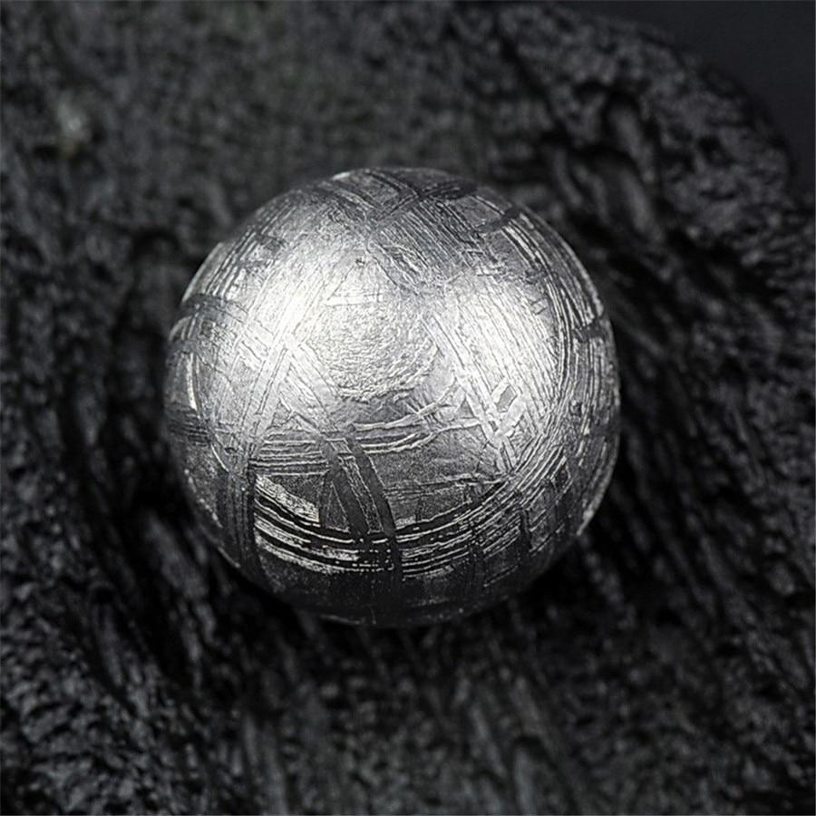 Genuine Natural Gibeon Iron Meteorite DIY Wholesale Loose Round Beads Sliver Plated Beads sliver plated irregular hem loose jumper