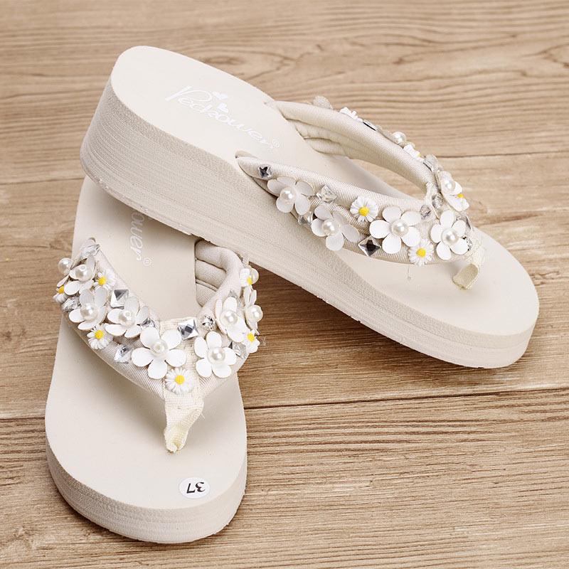 Summer Shoes Women 2018 4.5CM Slope Platform Sandals Wedge Flip Flops Sapato Feminino Slippers Sandalias Plataforma Chanclas все цены