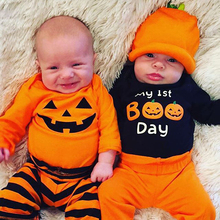 Infant Baby Pumpkin Halloween Romper