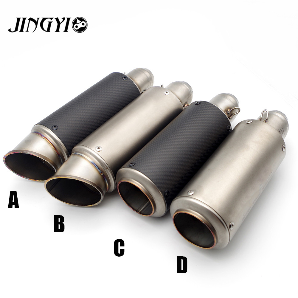 Universal 51/61MM Inlet Motorcycle Exhaust Pipe silencieux moto Muffler Pipe escape moto FOR BMW R1200gs K1200S F800GS