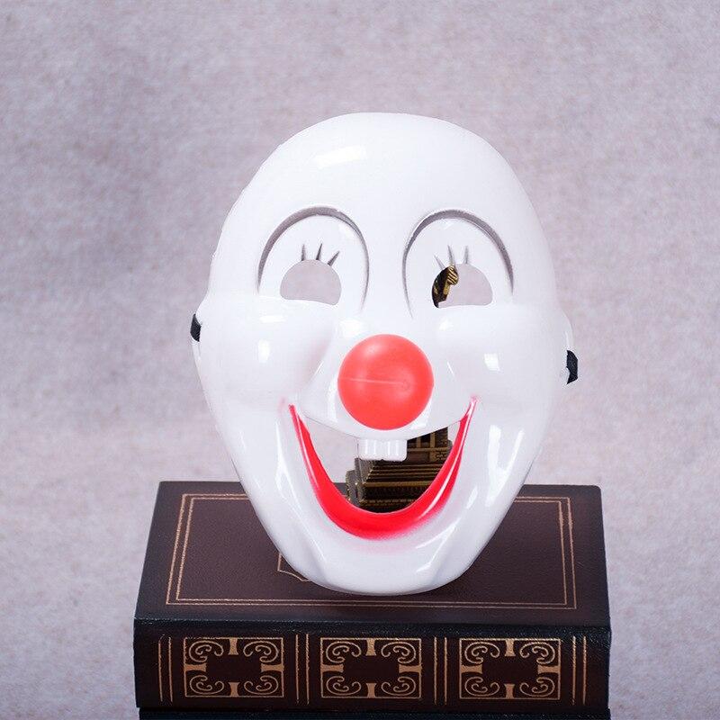 Цельнокроеное платье маска клоуна Хэллоуин День Забавный реквизит производительности фестиваль партии Маскарад Пластик Маски для век