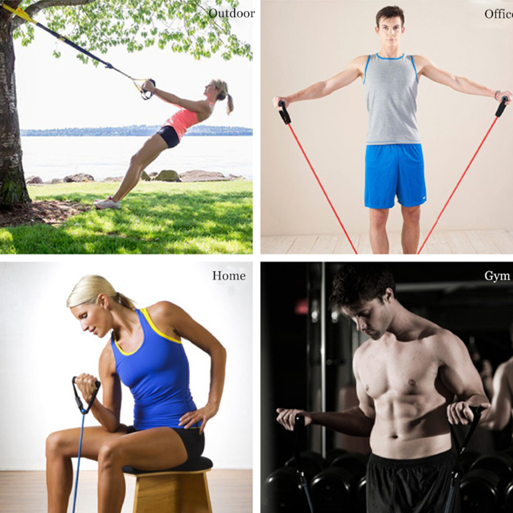 120cm Yoga Pull Rope Elastic Resistance Bands Fitness Crossfit Workout Exercise Tube Practical Training Rubber Tensile Expander 5