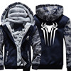 USA SIZE Spiderman Spider Men S Hoodies Sweatshirts Fashion Winter Thick Fleece Zipper Male Hooded Sweatshirts