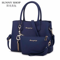 SUNNY SHOP Famous Brand Purses And Handbags Set Designer Women Bag High Quality Luxury Leather Bags