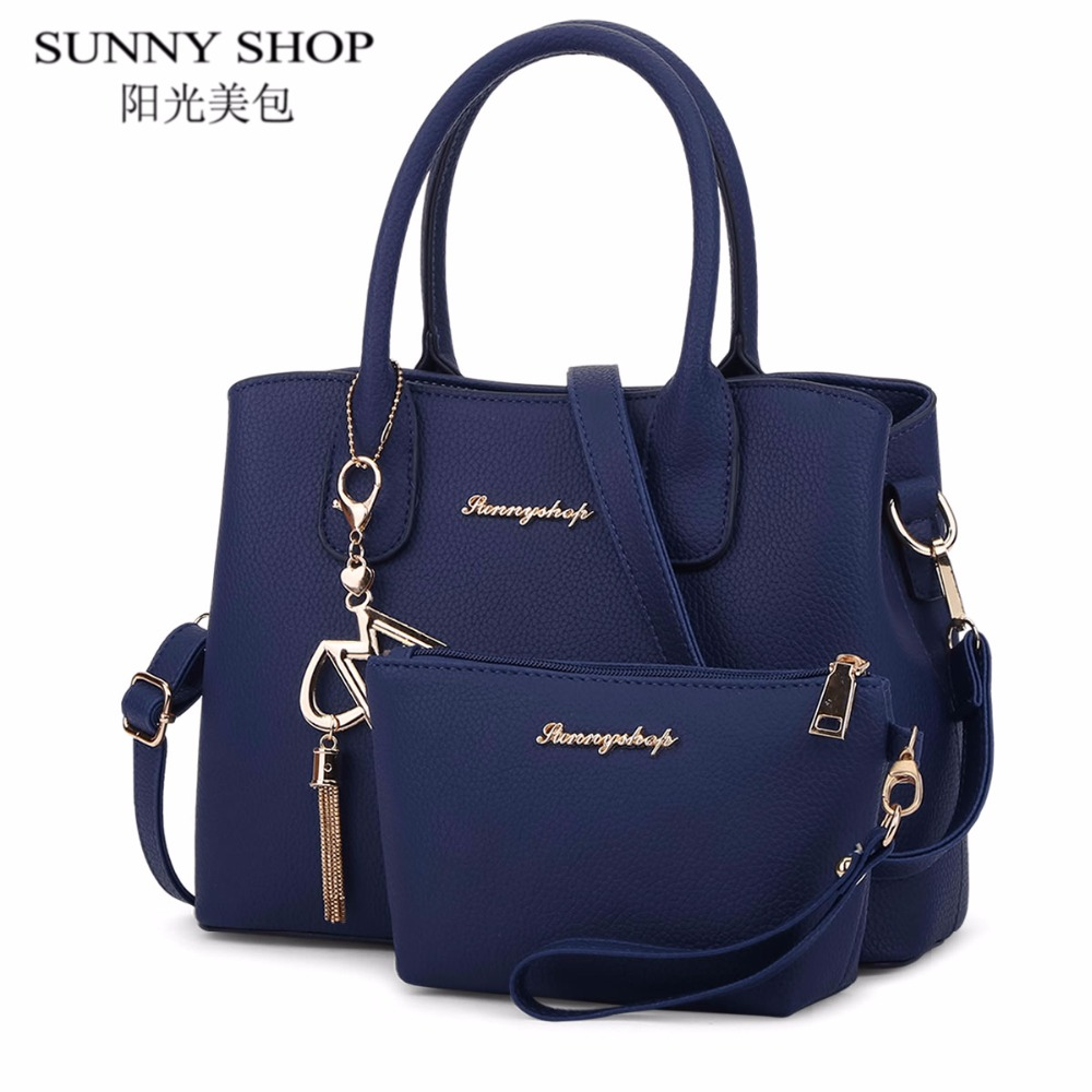 SUNNY SHOP Famous Brand Purses and Handbags set Designer Women Bag High Quality Luxury leather bags women Shoulder Bags 2017