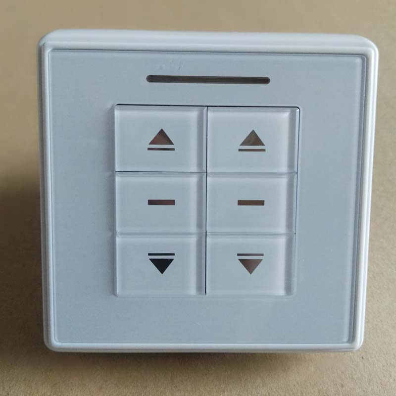 Two Gangs ,Wall Switch Turn On/off Switch ,Touch On/off Switch, 2 Gang 2Way AC  220V To 24V ,Press Botton Controller